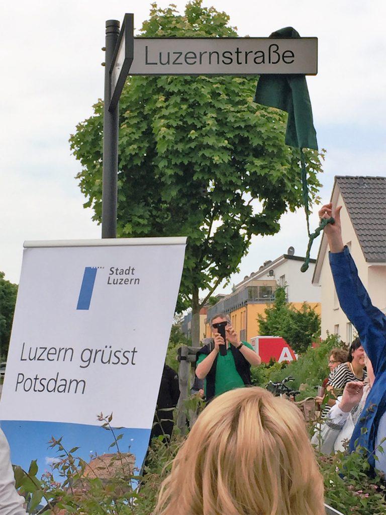 Einwiehung Luzernerstrasse